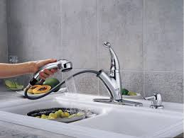 delta kitchen faucet with sprayer faucet 468 sd dst in chrome by delta