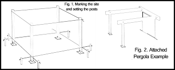 Attached Pergola Plans by How To Draw Pretty And Useful Pergola Plans