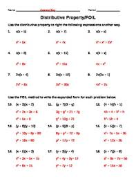 distributive property foil worksheet 1 by midwest math tpt