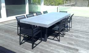 concrete patio dining table concrete look outdoor dining table outdoor designs