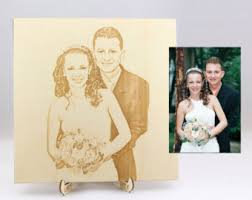 engraved wedding albums customized rustic wooden wedding photo album with finely