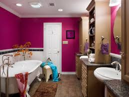 delicate style of charming girls bathroom ideas with nervous wall