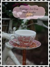 vintage country style tea cup bird feeder tutorial