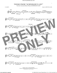 theme schindler s list cello williams theme from schindler s list sheet music for clarinet solo