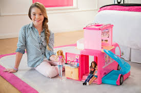 barbie cars barbie pop up camper
