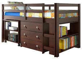 donco kids donco kids studying student low loft bed cappuccino