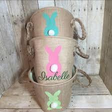 personalized easter basket personalized burlap easter basket easter egg hunt pale