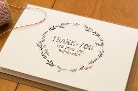 thank you bridesmaid cards thank you card sle thank you bridesmaid card bridesmaid thank