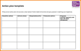project action plan template action plan template microsoft excel