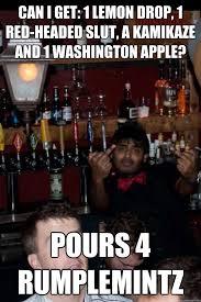 Funny Bartender Memes - asshole bartender memes quickmeme