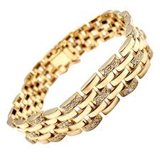 cartier jewelry bracelet images Cartier maillon panthere diamond five row link gold bracelet jpg