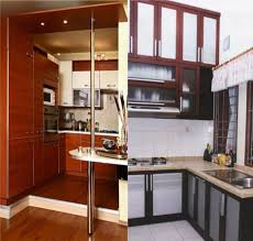 Floating Cabinets Kitchen Captivating Ikea Small Kitchen Design With Wooden Floating