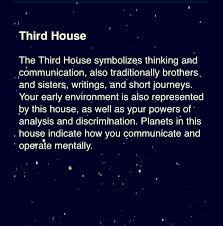 In House Meaning by Third House 3rd House Astrology For More Zodiac Related Posts