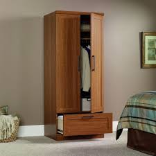 Bedroom Storage Cabinets by Amazon Com Sauder Homeplus Wardrobe Storage Cabinet Sienna Oak