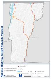 Vt Map National Highway Freight Network Map And Tables For Vermont Fhwa