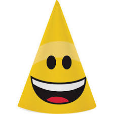 party hats emoji party hats 8ct smiley birthday party supplies favors