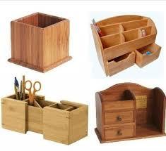bureau en bambou bambou porte stylo en bois bambou bois bureau organisateur