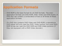 what format dvd player read dvd technology ppt download