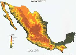 Monterrey Mexico Map by Mexico Physiographical Map