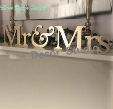 mr and mrs table decoration gold mr mrs letters wedding table decoration freestanding gold