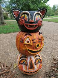 Halloween Paper Mache Crafts by Cassie Stephens Diy Vintage Inspired Halloween
