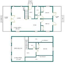 floor plans for cabins 24x40 cabin w loft plans package blueprints