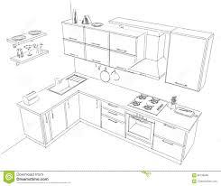 dessiner cuisine dessiner cuisine 3d comment dessiner une cuisine d de avec design