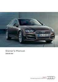 2018 audi a4 s4 u2014 owner u0027s manual u2013 403 pages u2013 pdf