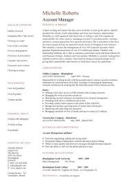 marketing cv sample account manager cv template sample job description resume