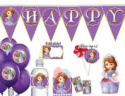 instant download sofia the first party package sofia the first