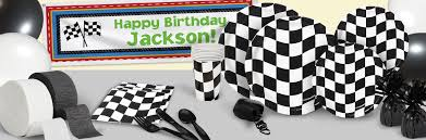 black and white halloween party black and white check race birthday theme racing birthday party