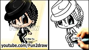 michael jackson cartoon drawing lesson how to draw people