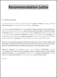 Reference Letter exles of letter of recommendation templatecaptureprojects