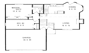 one story house plans with open concept plan 1275 floor