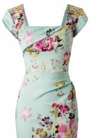 pretty dress cara dress in the mint seville floral print