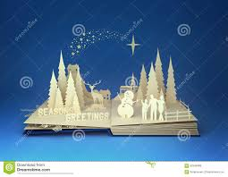 paper craft christmas story stock illustration image 62504095