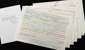 gallery composer manuscripts to be auctioned to raise money for