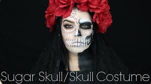 sugar skull costume half sugarskull half skull costume