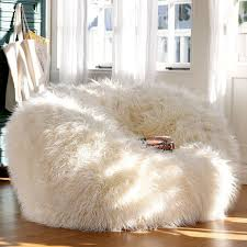 White Fluffy Chair Adorable White Fur Bean Bag Chair For Teen Extraordinary