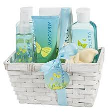 bath gift sets meadow bath gift set in wicker white basket shower