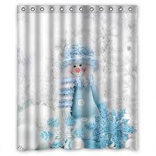 snowman shower curtain sets u2022 comfy christmas