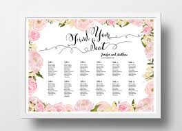 wedding poster template wedding seating chart poster template wedding table plan