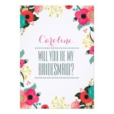 bridesmaid invitations template will you be my bridesmaid cards with bridesmaids invitations