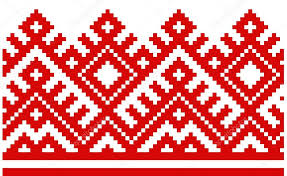 ukraine pattern vector ornament embroidered good like handmade cross stitch ethnic ukraine