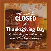 closed thanksgiving day sail brewery