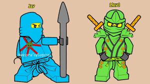 lego ninjago jay lloyd coloring fun coloring activity
