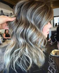 hairstyles with grey streaks 40 ideas of gray and silver highlights on brown hair