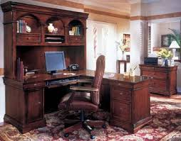 L Shaped Desk Hutch Traditional Contemporary Home Office Furniture Of Wood Veneer