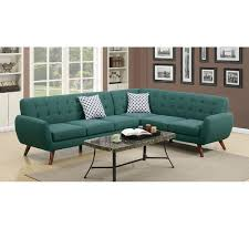 2pcs tufted back espresso bonded leather sectional sofa set