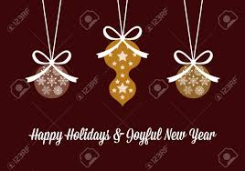 greeting card for happy holidays and new year flyers